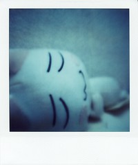 have a good dream.. (rahen z) Tags: japanesecharacter toro  cat japanesecat polaroid polaroidsx70 sx70 tunnnelvisionlens toy doll instantfilm instantcamera film japan 15fav macro 510fav character 100v10f
