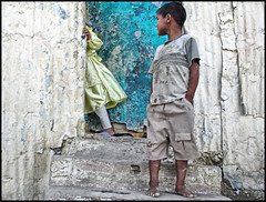 Tangier, Morocco (shadowplay) Tags: poverty kids escape sister brother morocco tangier shantytown exitstrategy