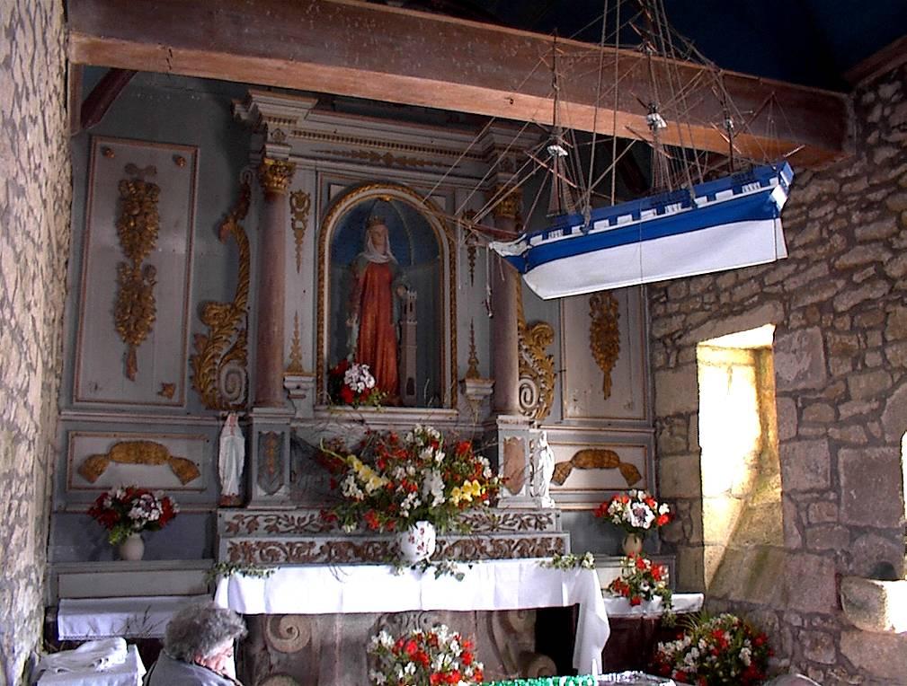 Roscoff - Intérieur de la Chapelle Ste Barbe