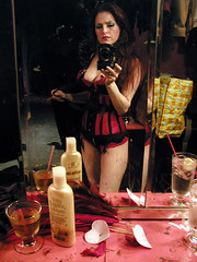 Backstage at the Slipper Room, NYC (Jo Weldon) Tags: burlesque jo backstage selfportrait mirror
