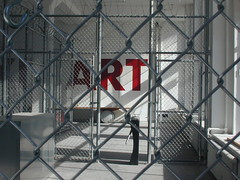 ART (dM.nyc) Tags: new york art sign fence manhattan chain link inside turnstile brill a inauguralimage justonephoto andrather itistoo nyca2z