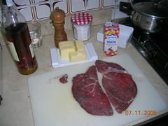 Ingredients per a fer vedella al pebre
