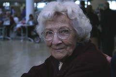 Granny Joan (Iain Cuthbertson) Tags: person gran granny grandmother glasses smiling grey 350d