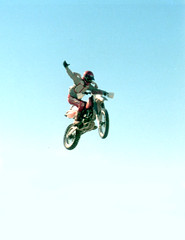 dirt bike at salton sea, circa late 1980's