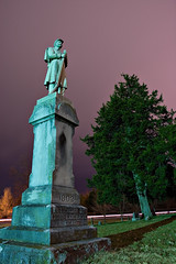 In Memory of Confederate Dead (Luke Williams) Tags: longexposure cemetery statue night dead memorial confederate civilwar missouri top20cemetery neosho 1213print