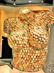 female torso sculpture (ArtsySF  ~ Marjie) Tags: sculpture woman art glass collage female miniature breasts boobs bosom body unique glossy heads torso assemblege artsysf 2376b4twitr52711at940pm