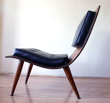 Bent Plywood Lounge Chair (side)