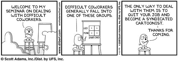 Image result for dogbert difficult coworkers