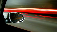 passing (Ben McLeod) Tags: flickrimportr driving longexposure night car vw volkswagen passat rearviewmirror