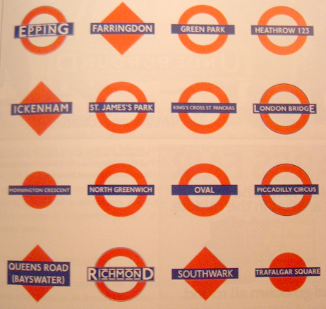 Variety of London Underground