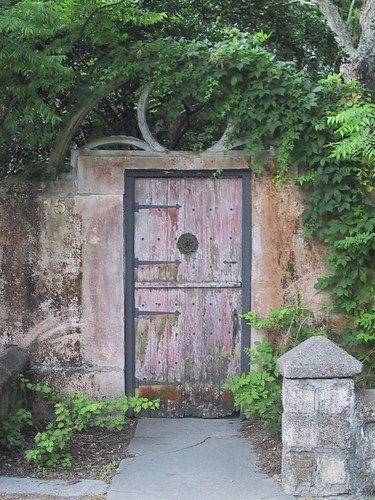 Garden Gate with Lone Post