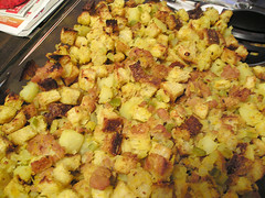 Sourdough Stuffing with Sausage and Pear