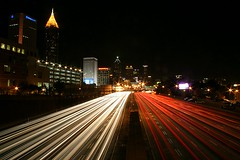 Atlanta at Night, From the 5th Street Bridge (HamWithCam) Tags: longexposure atlanta night interestingness nightshot atl canon20d hamwithcam explore citylights rps top50 lightsatnight no21 ffphoto top500 5thstreetbridge oneofmybest atlurban getty110811