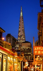 Transamerica (Thomas Hawk) Tags: sanfrancisco china california city usa building apple architecture night buildings downtown unitedstates 10 unitedstatesofamerica william fav20 financialdistrict muni transamerica transamericapyramid transamericabuilding pereira fav10 williampereira fav25 williamlpereira pereria superfave