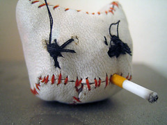scaredy cat (cautionwetpaint) Tags: toys dolls cat wetpaint