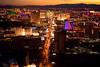 Las Vegas at sunset (Heather Leah Kennedy) Tags: travel las vegas sunset hotel neon view nevada casino strip stratosphere