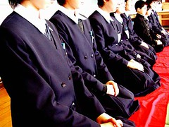 sadou seiza (photobotic) Tags: school students japan uniform tea ceremony culture greentea kneeling gunma seiza maccha sadou shirasawa