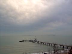 Black Sea and Pier (ztephen) Tags: sea clouds pier most bulgaria burgas