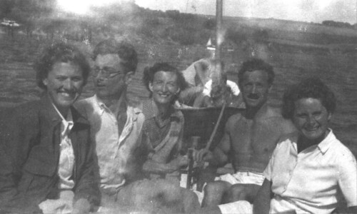 Smees on an outing in Cornwall, 1950