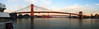 [Panorama] Brooklyn, Manhattan and Williamsburg Bridges (Diego3336) Tags: nyc newyorkcity bridge sky panorama usa sun ny newyork water brooklyn america port reflections river pier boat manhattan sony structures bridges landmarks landmark panoramic east brooklynbridge manhattanbridge eastriver williamsburg bklyn southstreet seaport williamsburgbridge sonyh1 pier17 microsoftice