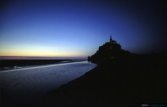 Mont St. Michel, France (no.zomi) Tags: blue france topv111 bretagne monastery stmichel normandy