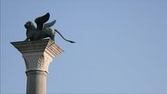 Wing Ed the Lion (his daveness) Tags: venice italy statue angel europe lion copper column venezia wingedlion