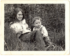 My Mom and Me (Stewart) Tags: family blackandwhite bw lund child mother nostalgia stewart oldphoto stewartbutterfield norma cuteness dharma tallgrass unbelievablecuteness