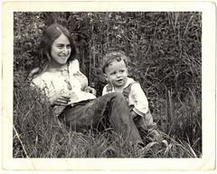 My Mom and Me (Stewart) Tags: family blackandwhite bw lund child mother nostalgia stewart oldphoto stewartbutterfield norma cuteness dharma tallgrass unbelievablecuteness