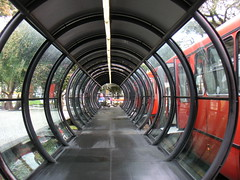 Bus stop waiting tube, Curitiba by Thomas Locke Hobbs, on Flickr