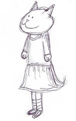 """wishing cat -- illo friday """"simple"""" (kittyanydots) Tags: cats illustration cat sketch kitten kat feline drawing kitty doodle illustrationfriday gato kawaii kitties illo neko katze cait simple whimsical minou kissa felina gatta illofriday kittyanydots"""