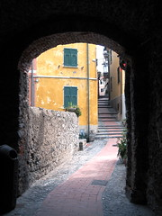 Italian village scene (kimbar/very busy, in and out) Tags: travel italy cool italia picturesthroughholes liguria ngc pathway portals lookingthrough tellaro impressedbeauty internationalgeographic