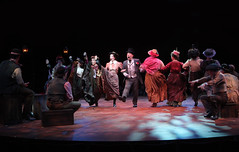 Stephen Berger as Alfred P. Doolittle with the cast in My Fair Lady, produced by Music Circus at the Wells Fargo Pavilion June 9-14, 2015. Photos by Charr Crail.