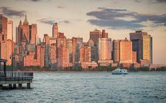 Lowest Manhattan (Jim | jld3 photography) Tags: new york city newyorkcity light buildings photography evening pier boat nikon warm cityscape dusk manhattan financialdistrict 28 d800 80200mm 2014 jld3