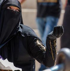 We All Need Grace (by: Natan Zach) (ybiberman) Tags: portrait woman black israel candid jerusalem hijab streetphotography beggar niqab ramadan muslimquarter alquds fridayprayer