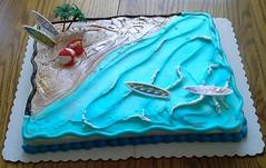 Beach cake by Pat, Linn County, IA, www.birthdaycakes4free.com