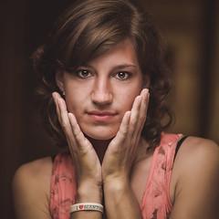Silvia (zorwick) Tags: portrait woman blur girl beauty face sisters nikon bokeh head retouch