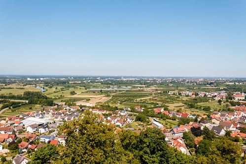 Vue sur Offenburg depuis le Château d'Ortenberg