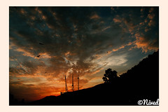 Orange Dreams (nived22447264) Tags: city sunset sky nature beauty skyscape nikon 18mm vizag goldenhours d7000