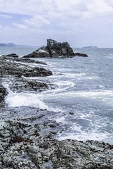 wave and beach (Y.Hassy) Tags: beach rock canon marine natural wave hama