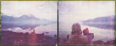 And The Whales Came To Say Hi! (Bastiank80) Tags: road camera trip family color film norway analog polaroid norge child julia mother large norwegen instant 4x5 sheet format fjord hi whales expired came say e6 ebony fjords 79 jonna bastiank sv45ti