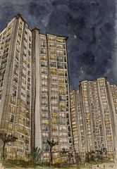 Haus B 아파트 단지, 부평 // High-rise apartments, Korea (velt.mathieu) Tags: building architecture sketch korea croquis 한국