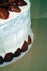Ellen's Cake (jjldickinson) Tags: food cooking cake fruit dessert baking strawberry longbeach icing wrigley nikond3300 promaster52mmdigitalhdprotectionfilter 100d3300 nikon1855mmf3556gvriiafsdxnikkor