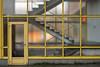 Durchblick (Hansaviertel) (leopanta*) Tags: 2016 berlin leopanta hansaviertel stair yellow sigma sigmadp2