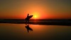 Surfer at sunset - Tel-Aviv beach. My dear friends, I wish you a Happy Hnukkah & Merry Christmas & All the best ! Greetings from Tel-Aviv ! (Lior. L) Tags: surferatsunsettelavivbeach surfer sunset telaviv beach surferatsunset sea seascapes reflection reflections silhouette water travel travelinisrael israel telavivbeach sun surf surfing mirror nature