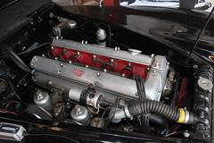 1956 Jaguar XK 140, the engine (Davydutchy) Tags: car collection private privé sammlung collectie automobile auto automobiel bil voiture pkw klassiker classic jaguar xk 140 drophead convertible cabriolet cabrio motor engine moteur welsum trn nieuwjaarsborrel january 2017
