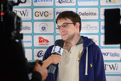 Maxime Vachier-Lagrave press interview (Johnchess) Tags: 29january2017 round6 tradewisegibraltarmasters