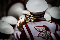 Marching band on New Year's day parade - LNYDP 2017, London, UK (St_Eric) Tags: london londres music trumpet reflection cuivre marchingband fanfare mounthorebhighschoolvikings wisconsin