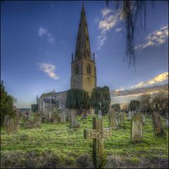Olney Church 4 (Darwinsgift) Tags: olney church buckinghamshire england st peter paul nikkor pce 24mm f35 tilt shift hdr nikon d810 photomatix graveyard cowper newton hymns winter