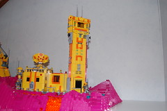 The outpost (sander_koenen92) Tags: lego space mining tower lava platform outpost container ship crane crystals