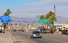 California Ave. Parker Arizona (Cragin Spring) Tags: sign vehicle mountains street palmtrees az arizona parkeraz parker parkerarizona unitedstates usa unitedstatesofamerica